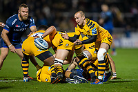 8th November 2019; AJ Bell Stadium, Salford, Lancashire, England; English Premiership Rugby, Sale Sharks versus Coventry Wasps; Dan Robson of Wasps passes the ball - Editorial Use