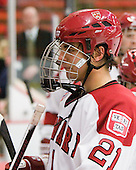 Marshall Everson (Harvard - 21) - The visiting Quinnipiac University Bobcats defeated the Harvard University Crimson 3-1 on Wednesday, December 8, 2010, at Bright Hockey Center in Cambridge, Massachusetts.