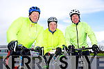Tom O'Shea, Liam Griffin and Tom Moriarty enjoying the Fenit Coastal Cycle in aid of St. Brendan's NS on Saturday