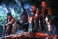 Predator (1987) <br /> Arnold Schwarzenegger, Carl Weathers, Sonny Landham &amp; Richard Chaves<br /> *Filmstill - Editorial Use Only*<br /> CAP/KFS<br /> Image supplied by Capital Pictures