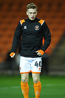 Blackpool's Connor Ronan during the pre-match warm-up <br /> <br /> Photographer Kevin Barnes/CameraSport<br /> <br /> The EFL Sky Bet League One - Blackpool v Gillingham - Tuesday 11th February 2020 - Bloomfield Road - Blackpool<br /> <br /> World Copyright © 2020 CameraSport. All rights reserved. 43 Linden Ave. Countesthorpe. Leicester. England. LE8 5PG - Tel: +44 (0) 116 277 4147 - admin@camerasport.com - www.camerasport.com