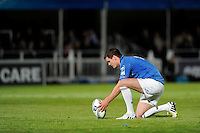 Jonathan Sexton of Leinster prepares to take a kick during the Amlin Challenge Cup Final between Leinster Rugby and Stade Francais at the RDS Arena, Dublin on Friday 17th May 2013 (Photo by Rob Munro).