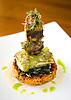 Chika Soba Noodles, a soba noodle cake with Hawaiian seabass and jumbo sea scallops at the Ritz-Carlton Kapalua on Maui, Hawaii. Photo by Kevin J. Miyazaki/Redux