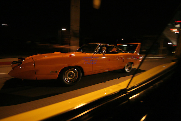 Cruise night in San Mateo, <br /> on ElCamino Real. Local Cars Gather to enjoy the summer evenings and Classic Cars, Muscle Cars, Collector Cars.