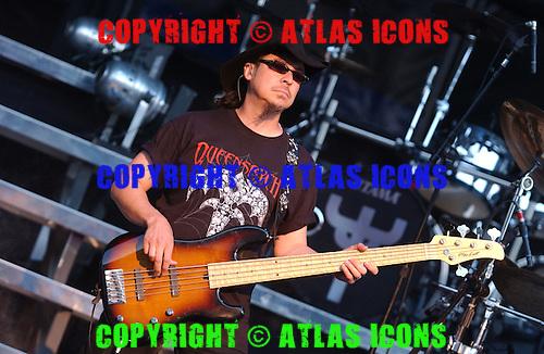 Queensryche; Eddie Jackson; Live, In New York City, On 6-17-2005<br /> Photo Credit: Eddie Malluk/Atlas Icons.com