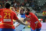 Cañellas (21), Zorman (23) & Maqueda (5). SPAIN vs SLOVENIA: 26-22 - Semifinal.