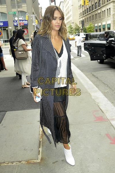NEW YORK, NY - SEPTEMBER 13:  Jessica Alba seen in New York City on September 13, 2015.<br /> CAP/MPI67<br /> &copy;MPI67/Capital Pictures