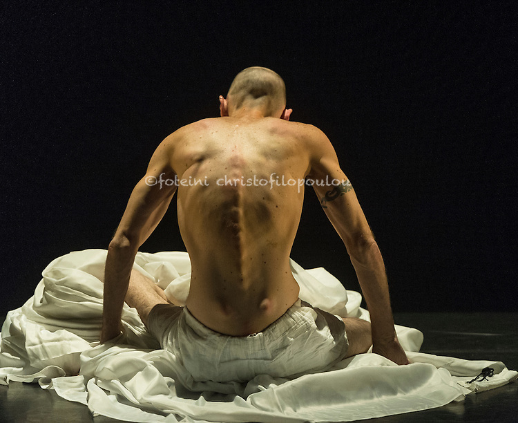 London, UK. 10.03.2016. Marc Brew Company presents For Now, I am... at Sadler's Wells, Lilian Baylis Studio. Photo shows: Marc Brew. Photo - © Foteini Christofilopoulou.