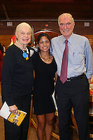 STANFORD, CA - June 12:  Hilary Barte with Helen Bing and Peter Bing during the 2008 Athletic Board Award Luncheon at the Ford Center in Stanford, California.