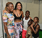 MIAMI, FL - JULY 25: Mýa (C) backstage during the Overtown Music and Arts Festival at the historic Overtown district of Miami on Saturday July 25, 2015 in Miami, Florida. ( Photo by Johnny Louis / jlnphotography.com )