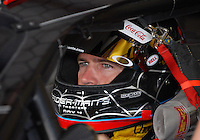 Apr 27, 2007; Talladega, AL, USA; Nascar Nextel Cup Series driver Bobby Labonte (43) during practice for the Aarons 499 at Talladega Superspeedway. Mandatory Credit: Mark J. Rebilas
