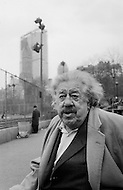 """February 1968, Manhattan, New York City, USA. Swiss actor Michel Simon is in New York City to present the film """"Le Vieil homme et l'enfant"""" (""""The Old Man and the Boy""""). The 1967 film was directed by Claude Berri. Michel Simon plays the character Pepe."""