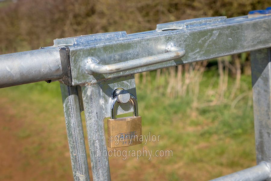 Farm gate with padlock