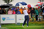 28 August 2009: Ernie Els of South Africa tees off during the second round of The Barclays PGA Playoffs at Liberty National Golf Course in Jersey City, New Jersey.