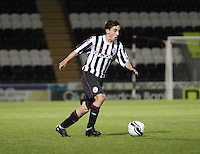 Anton Brady in the St Mirren v Dunfermline Athletic Clydesdale Bank Scottish Premier League U20 match played at St Mirren Park, Paisley on 2.10.12.