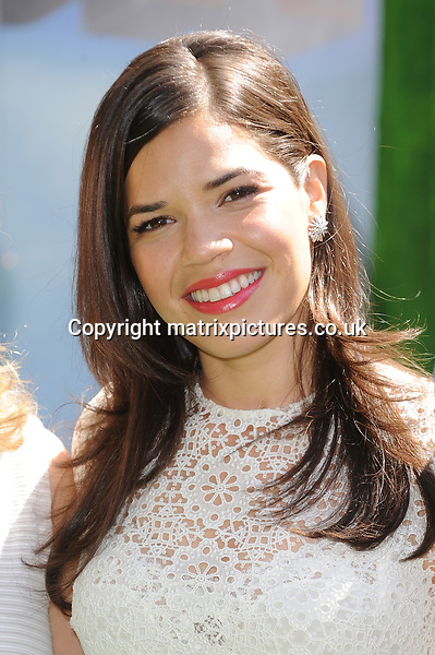 NON EXCLUSIVE PICTURE: PAUL TREADWAY / MATRIXPICTURES.CO.UK<br /> PLEASE CREDIT ALL USES<br /> <br /> WORLD RIGHTS<br /> <br /> American actress America Ferrera attending the UK Gala Screening of How To Train Your Dragon 2, at The Vue Leicester Square in London.<br /> <br /> JUNE 22nd 2014<br /> <br /> REF: PTY 142972