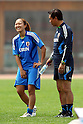 (L to R) Karina Maruyama (JPN),  Sasaki Norio Head Coach (JPN), September 6, 2011 - Football / Soccer : Women's Asian Football Qualifiers Final Round for London Olympic, Japan National Team Training at Jinan Olympic Sports Center Training Ground, Jinan, China. (Photo by Daiju Kitamura/AFLO SPORT) [1045]