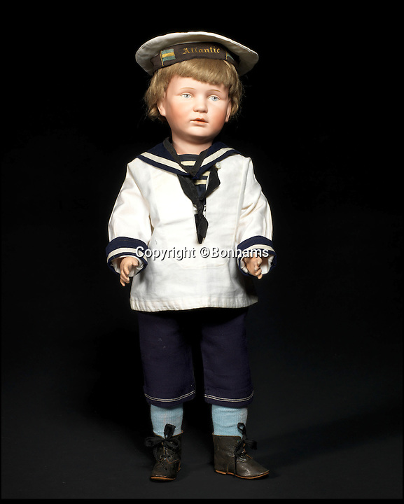 BNPS.co.uk (01202 558833)<br /> Pic: Bonhams/BNPS<br /> <br /> ***Please Use Full Byline***<br /> <br /> Franz Schmidt &amp; Co 1263 Bisque Head Character Doll. <br /> <br /> Well Hello Dolly  - &pound;1million doll collection sells at Bonhams.<br /> <br /> A creepy collection of almost 100 'lifelike' dolls modelled on children has sold for hearly &pound;1million. <br /> <br /> The eerie-looking toys were made in Germany in the early 20th century as dollmakers strived to produce dolls with realistic human features.<br /> <br /> The collection of 92 dolls, which includes some of the rarest ever made, has been pieced together by a European enthusiast over the past 30 years.