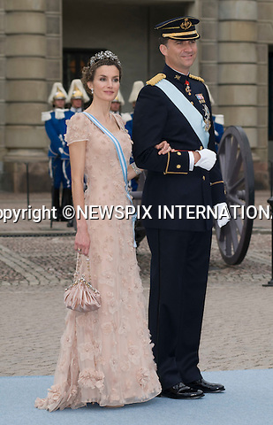 """CROWN PRINCE FELIPE AND CROWN PRINCESS LETIZIA OF SPAIN.PRINCESS VICTORIA AND DANIEL WESTLING WEDDING.Royal Guests at the wedding  Stockholm_19/062010.Mandatory Credit Photo: ©DIAS-NEWSPIX INTERNATIONAL..**ALL FEES PAYABLE TO: """"NEWSPIX INTERNATIONAL""""**..IMMEDIATE CONFIRMATION OF USAGE REQUIRED:.Newspix International, 31 Chinnery Hill, Bishop's Stortford, ENGLAND CM23 3PS.Tel:+441279 324672  ; Fax: +441279656877.Mobile:  07775681153.e-mail: info@newspixinternational.co.uk"""