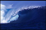 MAY 2000    -  Teahupoo, Tahiti   -  The unridden realm at Teahupoo the worlds heaviest left..