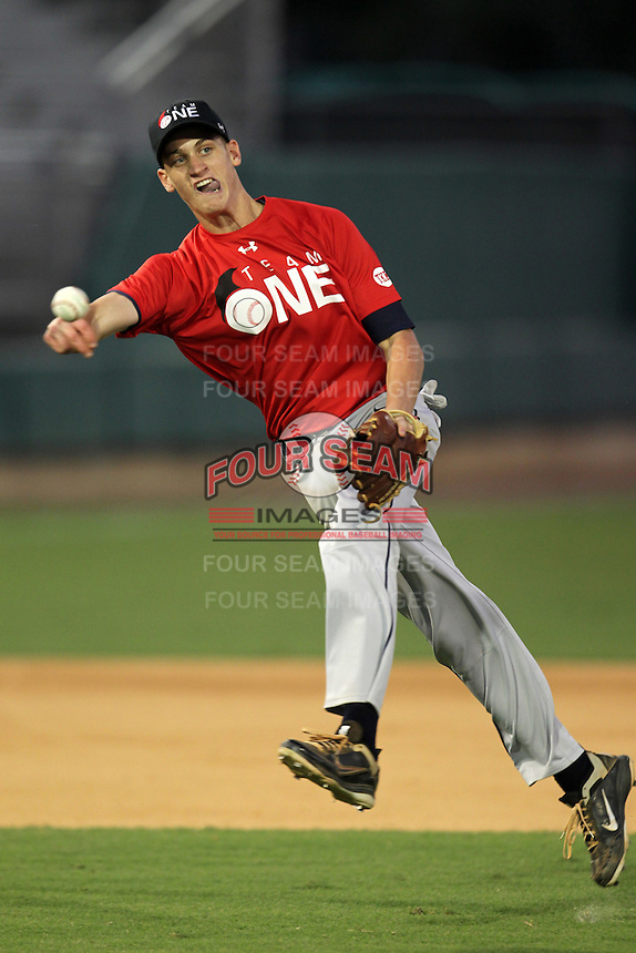 Brendan Spagnuolo during the Team One Futures Showcase East at Roger Dean Stadium on October 1, 2011 in Jupiter, Florida.  (Mike Janes/Four Seam Images)