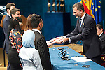 King Felipe VI of Spain attended the 'Prince of Asturias Awards 2014' ceremony at the Campoamor Theater on October 24, 2014 in Oviedo, Spain.