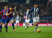 2nd December 2017, The Hawthorns, West Bromwich, England; EPL Premier League football, West Bromwich Albion versus Crystal Palace; Kieran Gibbs of West Bromwich Albion on the attack with the ball chased down by Joel Ward of Crystal Palace