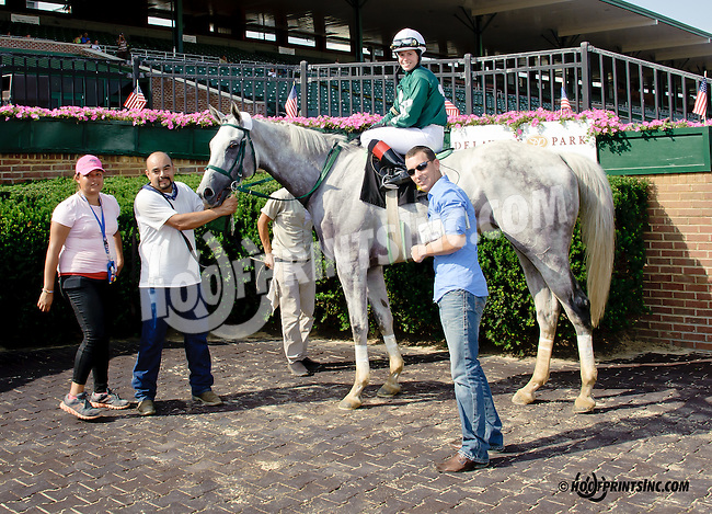 Wealth to Me winning at Delaware Park racetrack on 7/2/14