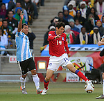 14 LEE Jung Soo during the 2010 World Cup Soccer match between Argentina vs Korea Republic played at Soccer City in Johannesburg, South Africa on 17 June 2010.  Photo: Gerhard Steenkamp/Cleva Media