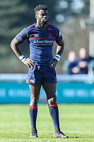 Matt Williams of London Scottish during the Greene King IPA Championship match between London Scottish Football Club and Bedford Blues at Richmond Athletic Ground, Richmond, United Kingdom on 25 March 2017. Photo by David Horn / PRiME Media Images.