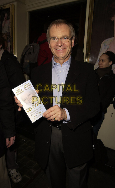 JEFFREY ARCHER.Hay Fever - press night at Theatre Royal, Haymarker, London, UK..April 20th, 2006.Ref: CAN.half length black glasses.www.capitalpictures.com.sales@capitalpictures.com.©Capital Pictures