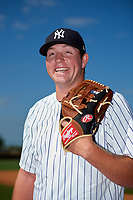 New York Yankees pitcher Matt Sauer poses for a photo before a Minor League Extended Spring Training game on May 2, 2018 at Yankees Minor League Complex in Tampa, Florida.  (Mike Janes/Four Seam Images)