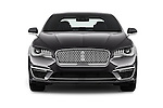 Car photography straight front view of a 2017 Lincoln MKZ Select 4 Door Sedan Front View