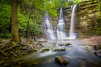 Twin Falls, also known as Tripple Falls due to the thrid fall during high water, on the Buffalo National River in Arkansas.