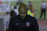 Couva, Trinidad & Tobago - Tuesday Oct. 10, 2017:  Tim Howard during a 2018 FIFA World Cup Qualifier between the men's national teams of the United States (USA) and Trinidad & Tobago (TRI) at Ato Boldon Stadium.