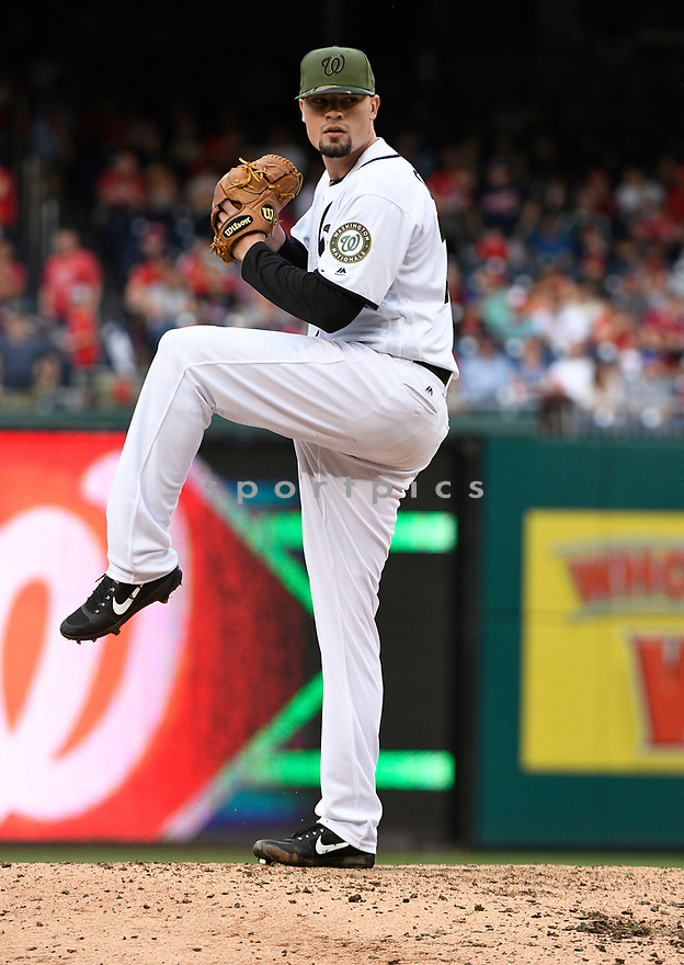 WASHINGTON DC - May 27, 2017: Koda Glover #30 of the Washington Nationals during a game against the San Diego Padres on May 27, 2017 at Nationals Park in Washington DC. The Nationals beat the Padres 3-0.(Chris Bernacchi/SportPics)