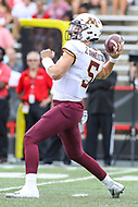 College Park, MD - September 22, 2018:  Minnesota Golden Gophers quarterback Zack Annexstad (5) throws a pass during the game between Minnesota and Maryland at  Capital One Field at Maryland Stadium in College Park, MD.  (Photo by Elliott Brown/Media Images International)