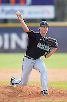 Coastal Carolina Chanticleers relief pitcher Tyler Poole (33) in action against the High Point Panthers at Willard Stadium on March 15, 2014 in High Point, North Carolina.  The Chanticleers defeated the Panthers 1-0 in the first game of a double-header.  (Brian Westerholt/Four Seam Images)
