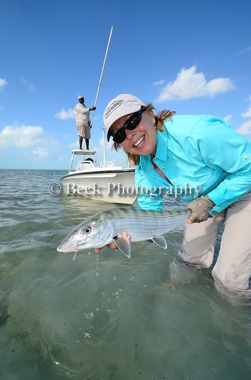 Saltwater fly fishing on Abaco in the Bahamas for bonefish