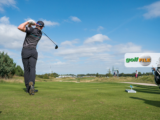 Grant Forrest (SCO) in action on the 9th hole during the 1st round at the KLM Open, The International, Amsterdam, Badhoevedorp, Netherlands. 12/09/19.<br /> Picture Stefano Di Maria / Golffile.ie<br /> <br /> All photo usage must carry mandatory copyright credit (© Golffile | Stefano Di Maria)