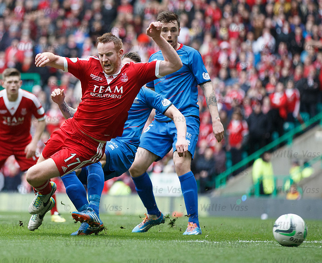 Adam Rooney goes down in the box