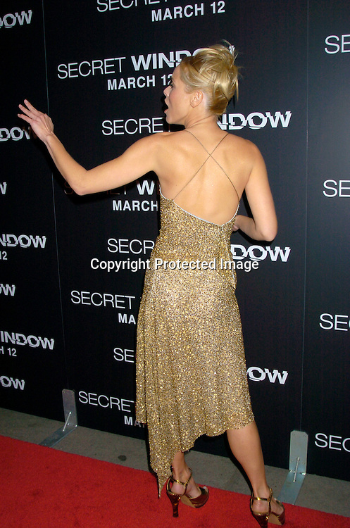 "Maria Bello ..at the World Premiere of ""Secret Window"" on March 7, 2004 at the Loews Lincoln Square.                                   Photo by Robin Platzer, Twin Images"