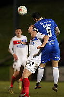 Michael Cheek of Dagenham  and Matty Brown of Halifax Town during FC Halifax Town vs Dagenham & Redbridge, Vanarama National League Football at The Shay on 13th March 2018