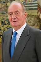 30.07.2012. King Juan Carlos I of Spain attends the audience with Soledad Becerril Bustamante, Defender of the People, at the Royal Palace of La Zarzuela. In the image King Juan Carlos (Alterphotos/Marta Gonzalez) *NortePhoto.com<br /> <br />  **CREDITO*OBLIGATORIO** *No*Venta*A*Terceros*<br /> *No*Sale*So*third* ***No*Se*Permite*Hacer Archivo***No*Sale*So*third*&copy;Imagenes*con derechos*de*autor&copy;todos*reservados*.<br /> El uso de las imagenes est&aacute; sujeta de pago a  nortephoto.com