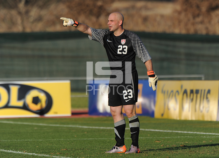 American reserve goalkeeper played the entire second half in his first international action since 2007. The U.S. won the match over Australia, 3-1, played June 5th, in Ruimsig Stadium,  at Roodepoort, South Africa.