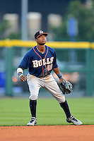 Durham Bulls shortstop Tim Beckham #22 during a game against the Buffalo Bisons on June 24, 2013 at Coca-Cola Field in Buffalo, New York.  Durham defeated Buffalo 7-1.  (Mike Janes/Four Seam Images)
