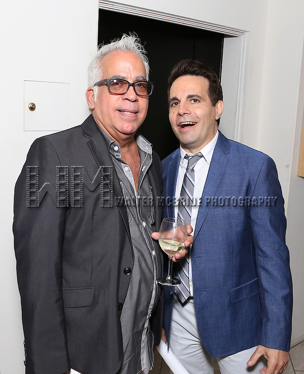 Richard Jay-Alexander and Mario Cantone attend 'Parlor Night' A benefit evening for The Broadway Inspirational Voices Outreach Program at the home of Roy and Jenny Neiderhoffer on June 22, 2015 in New York City.
