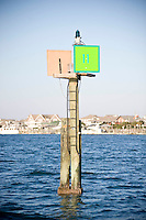 A channel marker at Wrightsville