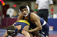 PHILADELPHIA, PA - NOVEMBER 18: Roman Bravo-Young of the Penn State Nittany Lions wrestles in the 133 pound championship match at the Keystone Classic on November 18, 2018 at The Palestra on the campus of the University of Pennsylvania in Philadelphia, Pennsylvania. (Photo by Hunter Martin/Getty Images) *** Local Caption *** Roman Bravo-Young
