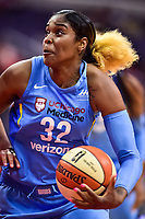 Washington, DC - July 13, 2018: Chicago Sky forward Cheyenne Parker (32) with the ball during game between the Washington Mystics and Chicago Sky at the Capital One Arena in Washington, DC. The Mystics defeat the Sky 88-72 (Photo by Phil Peters/Media Images International)